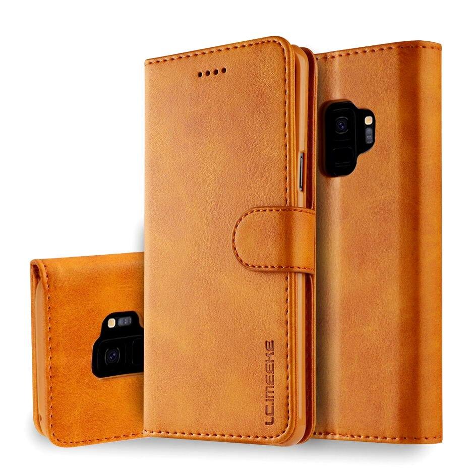 Flip para Samsung Galaxy A6 A7 A8 A9 J4 J6 2018 S6 S7 S8 S9 borde S10 E Plus Nota 9 A40 A30 A50 A70 A80 Funda de cuero