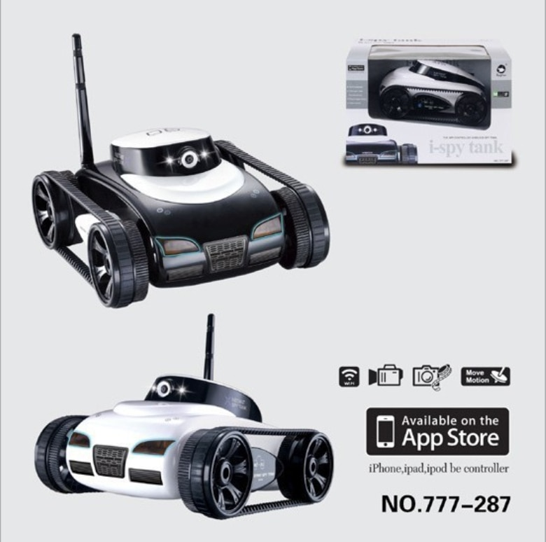 Free Shipping rc  tank 777-287 4Ch 2.4G App-Controlled wifi FPV RC i-Spy RC car With Camera iPhone iPad remote control kids gift enlarge