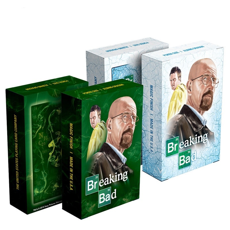 Hot America TV show Breaking Bad poker card set paper playing cards deck embossed surface Mr White n