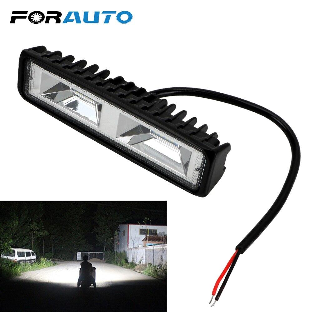 LED para coche faro antiniebla, faro de trabajo para coche, motocicleta, camión, barco, Tractor 12-24V, 36W, foco de luz LED de trabajo