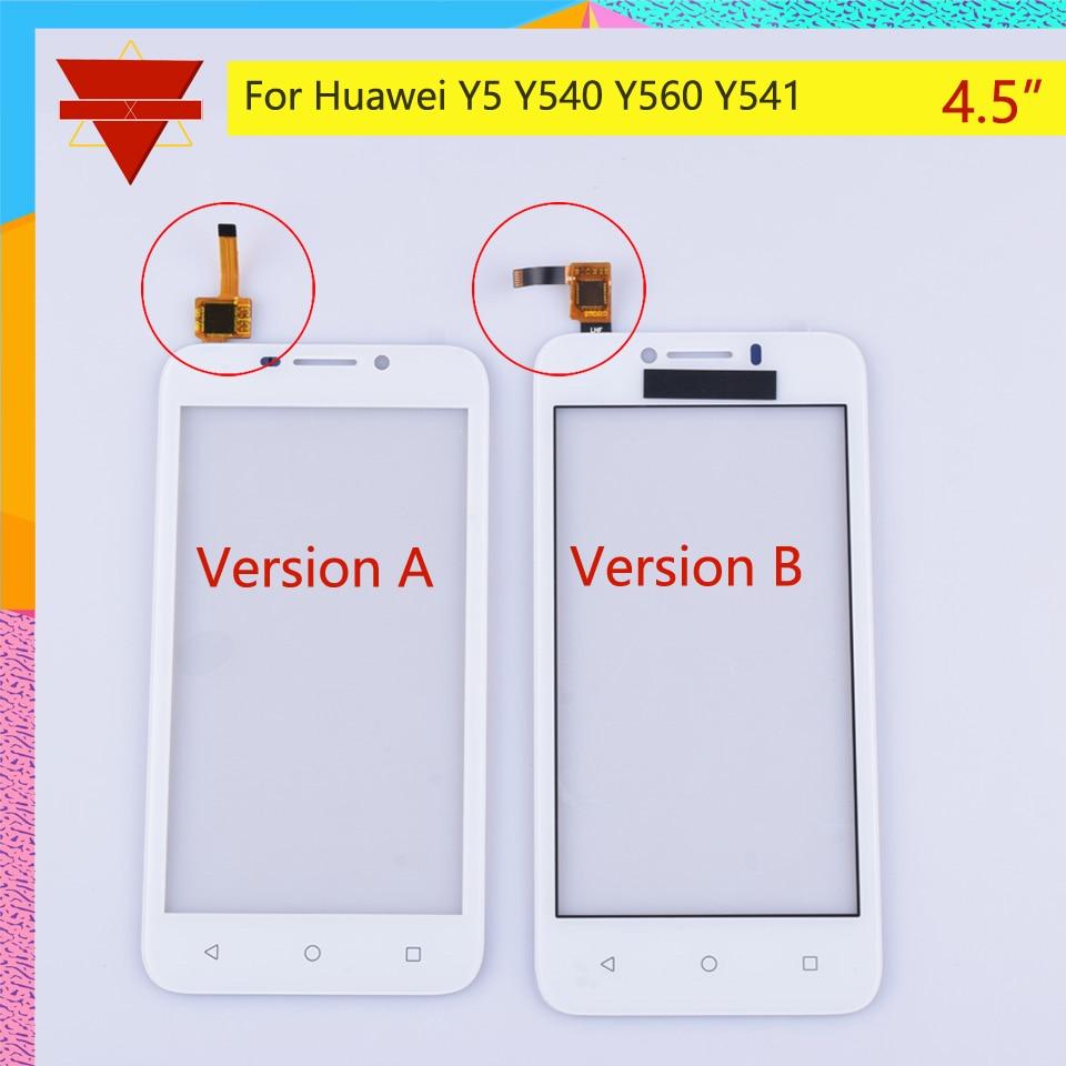 10 unids/lote para Huawei Y5 Y540 Y560 Y541 Y541-U02 Y560-L01 pantalla táctil Sensor de panel táctil digitalizador de vidrio frontal de la pantalla táctil