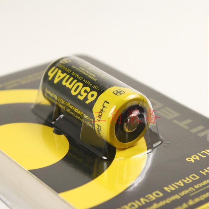 10 шт. NITECORE литиевая батарея 3,7 V NL166/RCR123A RCR123 CR123A 123 16340 650mah литий-ионный аккумулятор