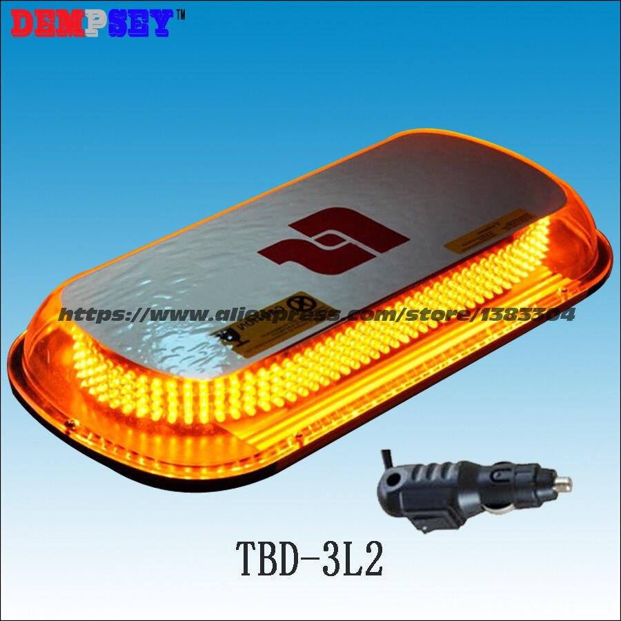 TBD-3L2 LED Super brillante mini Barra de luz, DC12/24 V barras de luz ámbar de advertencia de emergencia, camiones/fuego/coches de policía luz intermitente estroboscópica
