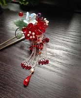 colored glaze cherry blossom tong po vintage classica hair stick hair jewelry