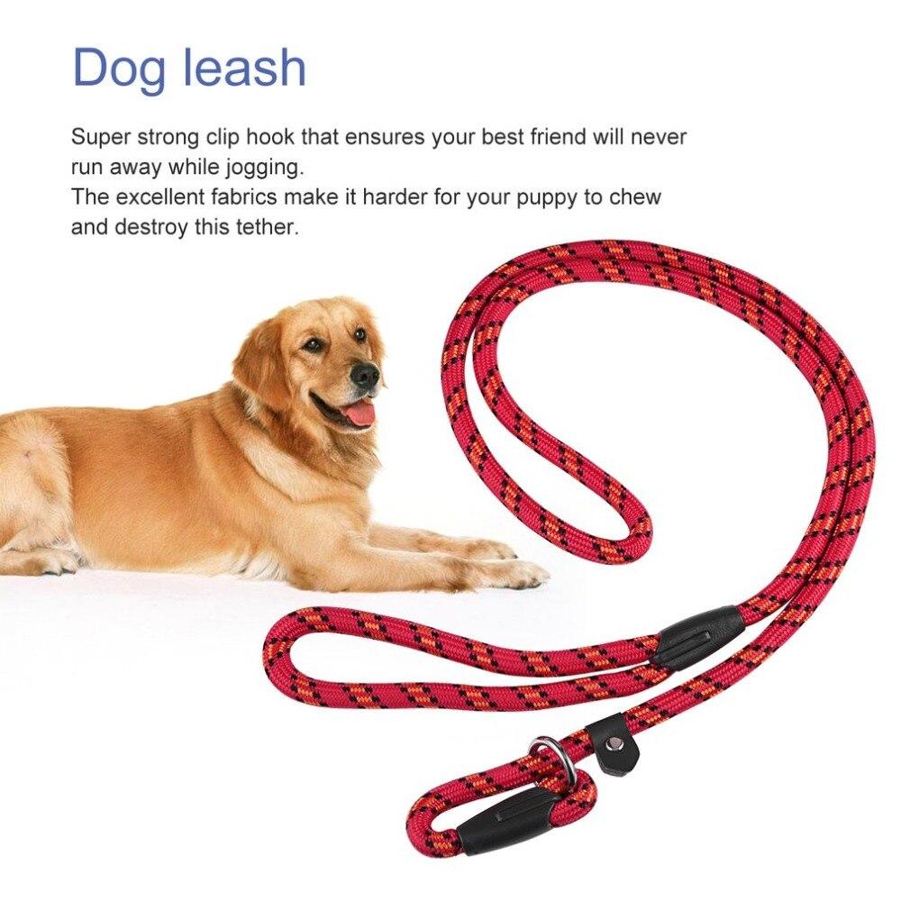 Alta Qualidade do animal de Estimação Trela Do Cão Corda de Nylon Macia Formação Chumbo Trela Do Cão do animal de Estimação Cão Anti Derrapante Alça de Corda