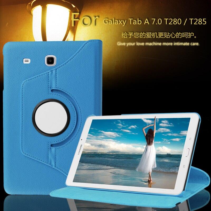 Funda de cuero PU giratoria de 360 grados funda inteligente para Samsung Galaxy Tab A A6 7,0 T280 T285 SM-T280 SM-T285 fundas para Tablet
