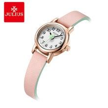 Mini Small Women's Watch Japan Quartz Hours Fashion Clock Lady Leather Bracelet Arabic Number Girl's Birthday Gift Julius Box