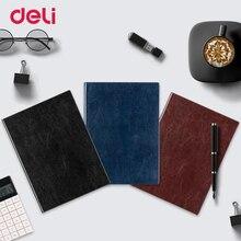 Deli A4 hardcover weiche PU leder tagebuch notebook trendy schule vintage büro planer journal reisenden buch mode notebook