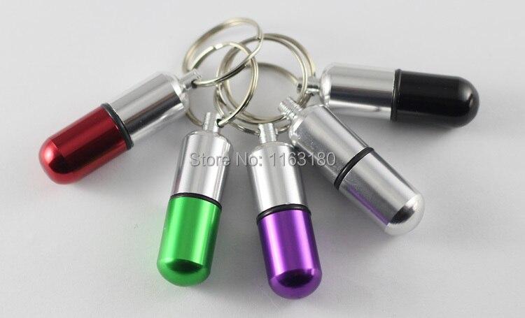 120 шт./лот мини алюминиевый контейнер, коробка для таблеток, держатель брелок, рекламный подарок, чехол для ключей, бесплатная доставка