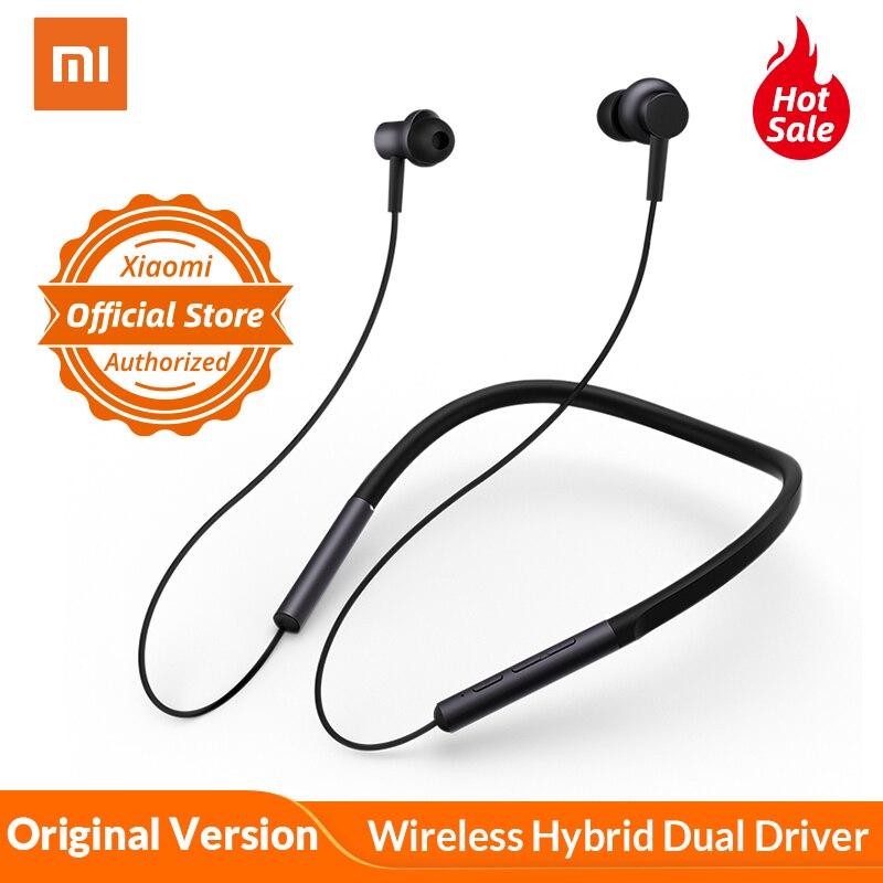 Xiaomi Mi Bluetooth Neckband Kopfhörer Kragen Kopfhörer Drahtlose Hybrid Dual Fahrer Apt-x mit Mic für Xiaomi Redmi 5 plus 4X A1