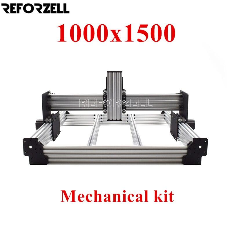 1000 مللي متر x 1500 مللي متر WorkBee CNC راوتر آلة كيت ، CNC الطحن الميكانيكية كيت