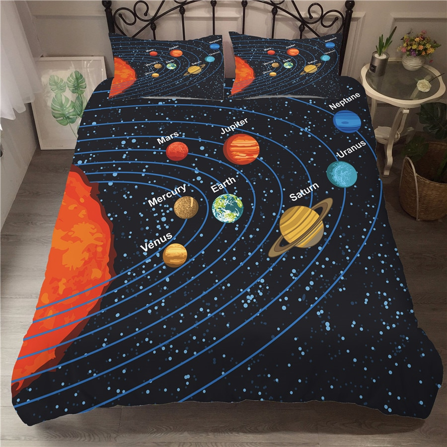 A Bedding Set 3D Printed Duvet Cover Bed Set Space astronaut Home Textiles for Adults Bedclothes with Pillowcase #ETTK09