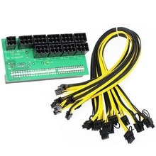 Ethereum ETH ZEC Mijnbouw Server Voeding 12 V GPU/PSU Breakout Board 9 stks 18AWG PCI-E 6 Pin Naar 6 2 Pin Kabels Power Adapter