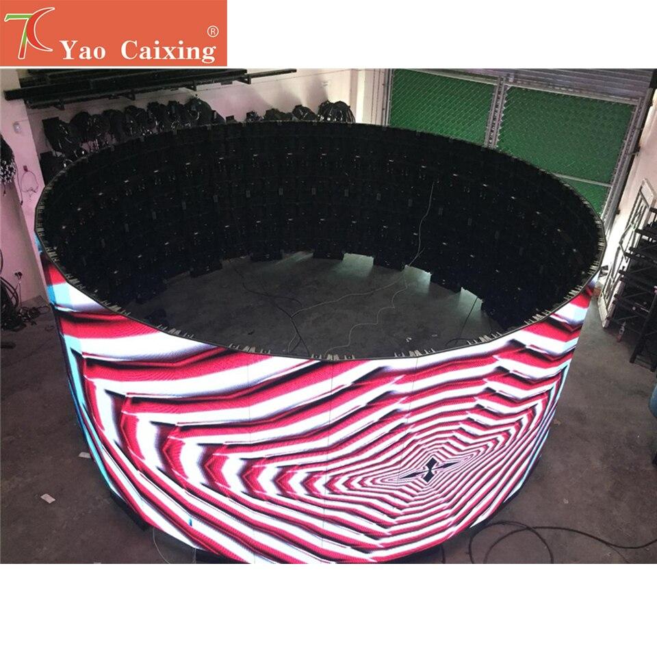 علي expressP3.91 داخلي 500x1000 مللي متر منحنى شاشة الألومنيوم مجلس الوزراء عرض smd كامل اللون تأجير شاشة hub75 عرض الفيديو