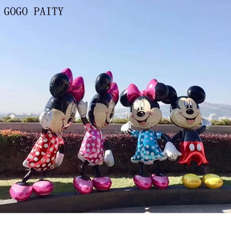 GOGO PAITY Frete grátis Novo importado layout de férias festa de Aniversário Mickey Minnie balão De Alumínio balão decorativo atacado