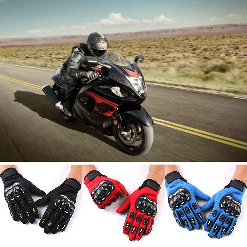 Vehemo, un par de guantes de moto de medio dedo para dedo completo, guantes de montar para motocicleta, bicicleta antideslizante para deportes al aire libre