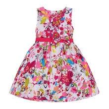 Girls Dresses for Kids Sleeveless Floral Dress Child Evening Flowers Dresses Girls Formal Infant Vestido 10 12 Years Print Dress