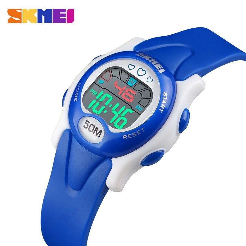 SKMEI  New Fashion Brand Children Sports Watch LED Digital  Watches Boy Girl Student Multi Function  Relogio Infantil 1478