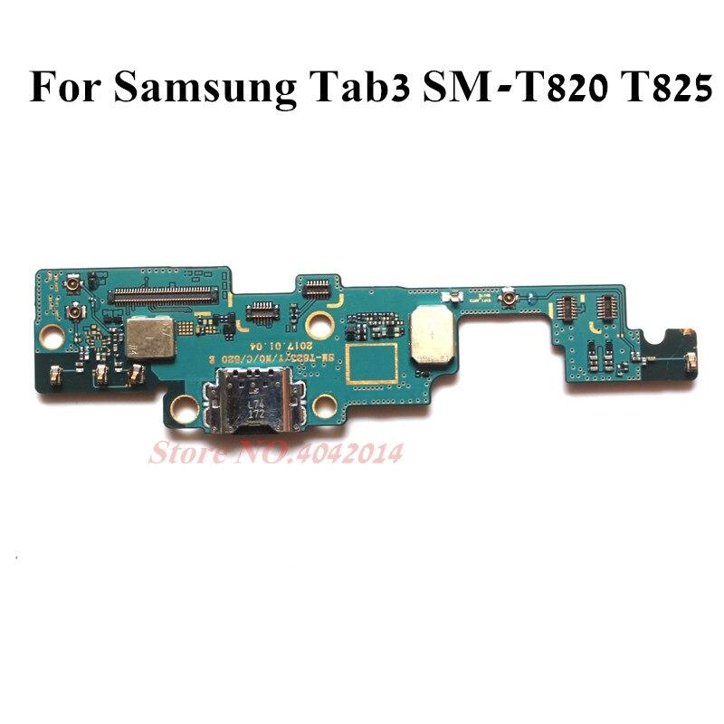 Original Für Samsung Tab3 T820 T825 SM-825 USB Lade Dock Connector Port Stecker Mikrofon Modul Board Ersatz teile