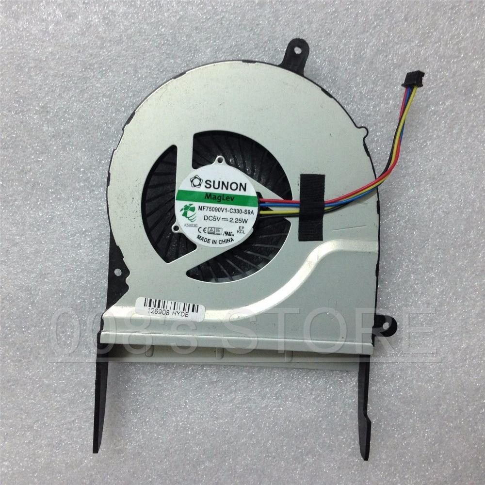 Novo CPU Notebook Cooler Fan Para ASUS N551J N551J N551JW MF75090V1-C330-S9A N551JK Para SUNON DC 5 V 2.25 W 4 Pinos
