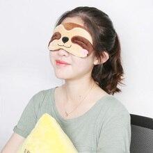 Animal Plush Eyepatch Soft Eye Mask Cartoon Travel Sleep Mask Alpaca Flash sloth plush mask toys cute llama Relax Blindfold gift