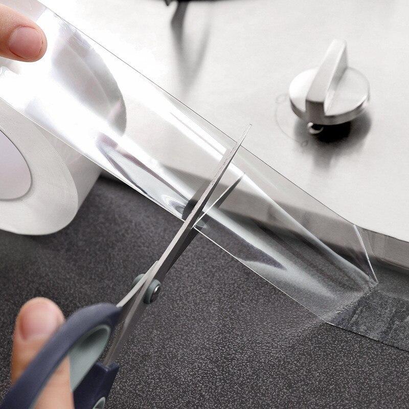 Sink Waterproof Mildew Transparent Tape Bathroom Crevice Strip Strong Self-adhesive Pool Water Seal Tape Kitchen Accessories
