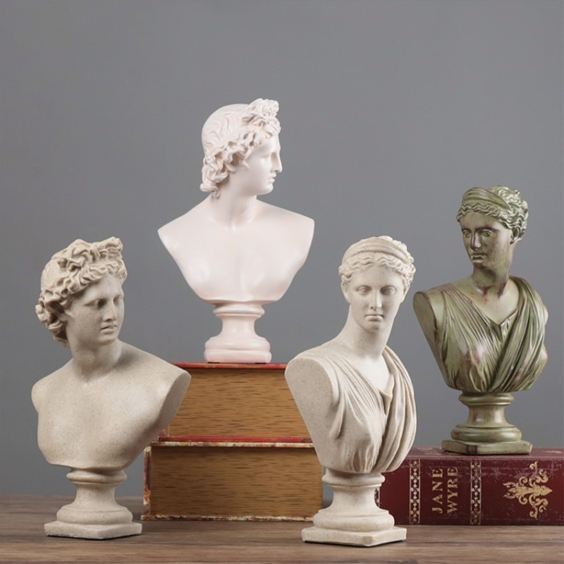 Estilo europeo y americano de carácter creativo arte, escultura modelo casa decoración de escritorio y el brazo roto Venus David Anna