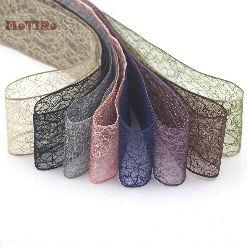 Прозрачная пряжа Motiro для снежной погоды, 1 ярд, цветная лента для волос с бантом, декоративная лента для платья, юбки, занавески, скатерти для ...