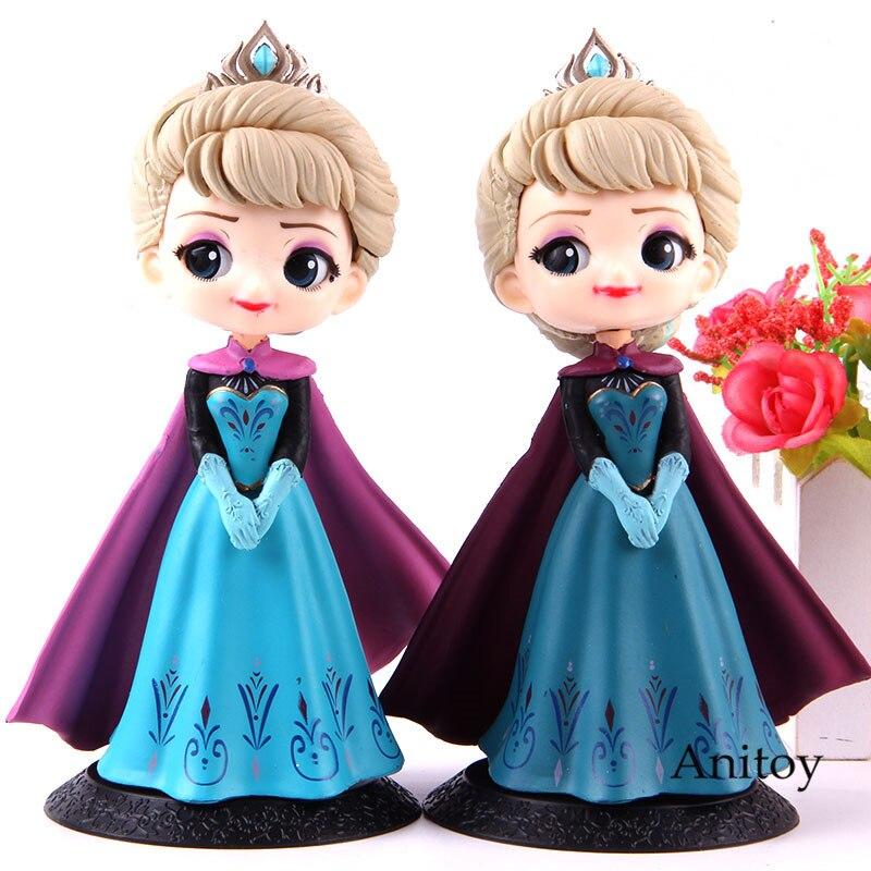 Qposket personajes Q Posket Elsa corona princesa versión Q figura de acción modelo de juguete para regalo de Grils
