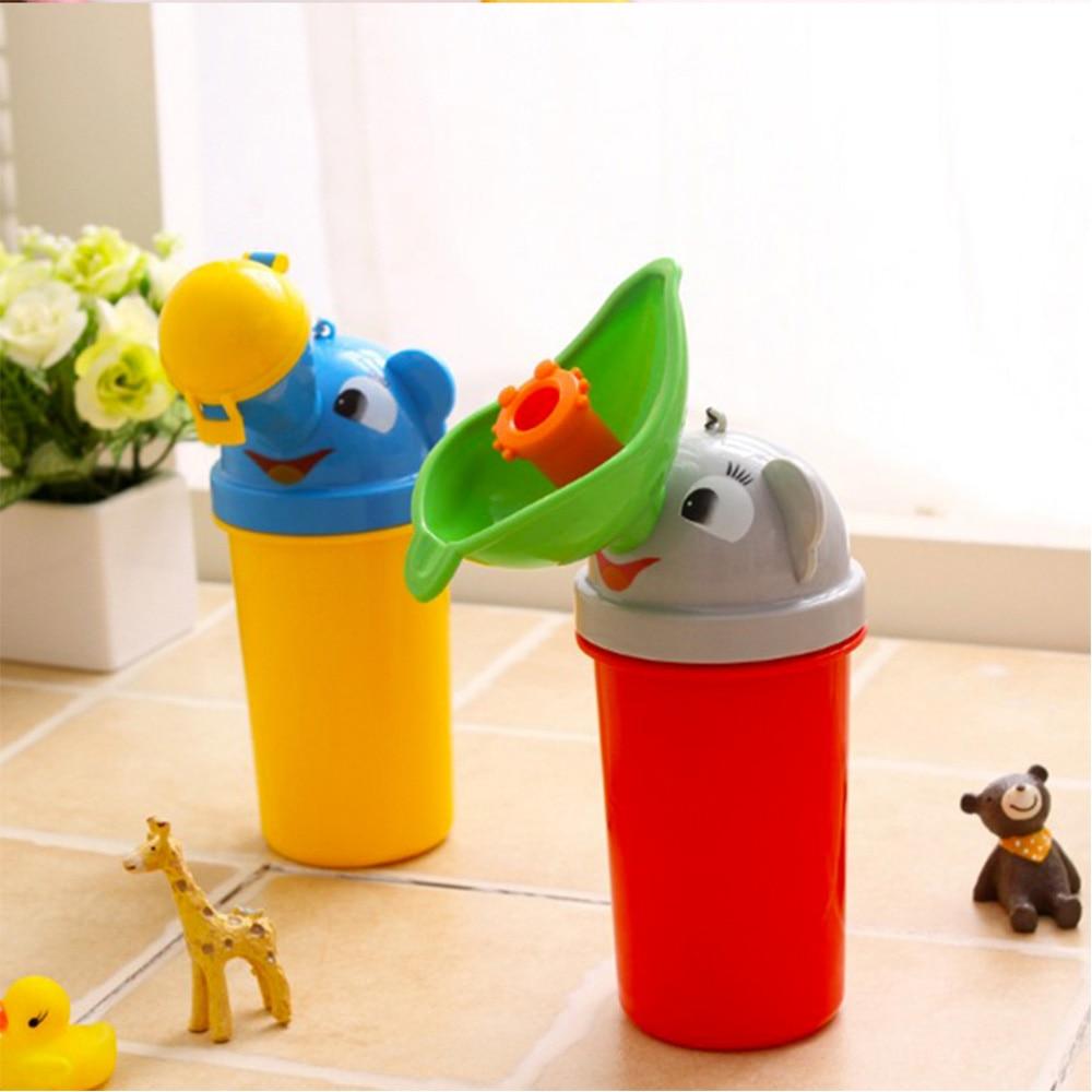 Portable Reusable Pee Bottle Cartoon Baby Urinal Leak-proof Potty Car Toilet for Toddler  Boys Girls Convenient Travel Gadgets