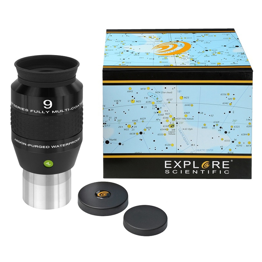 New Explore Scientific Eyepiece 120 degree Ultra-Wide Waterproof Fully Multi-Coated 2inch 9mm Telescope Eyepiece ARGON-PURGED