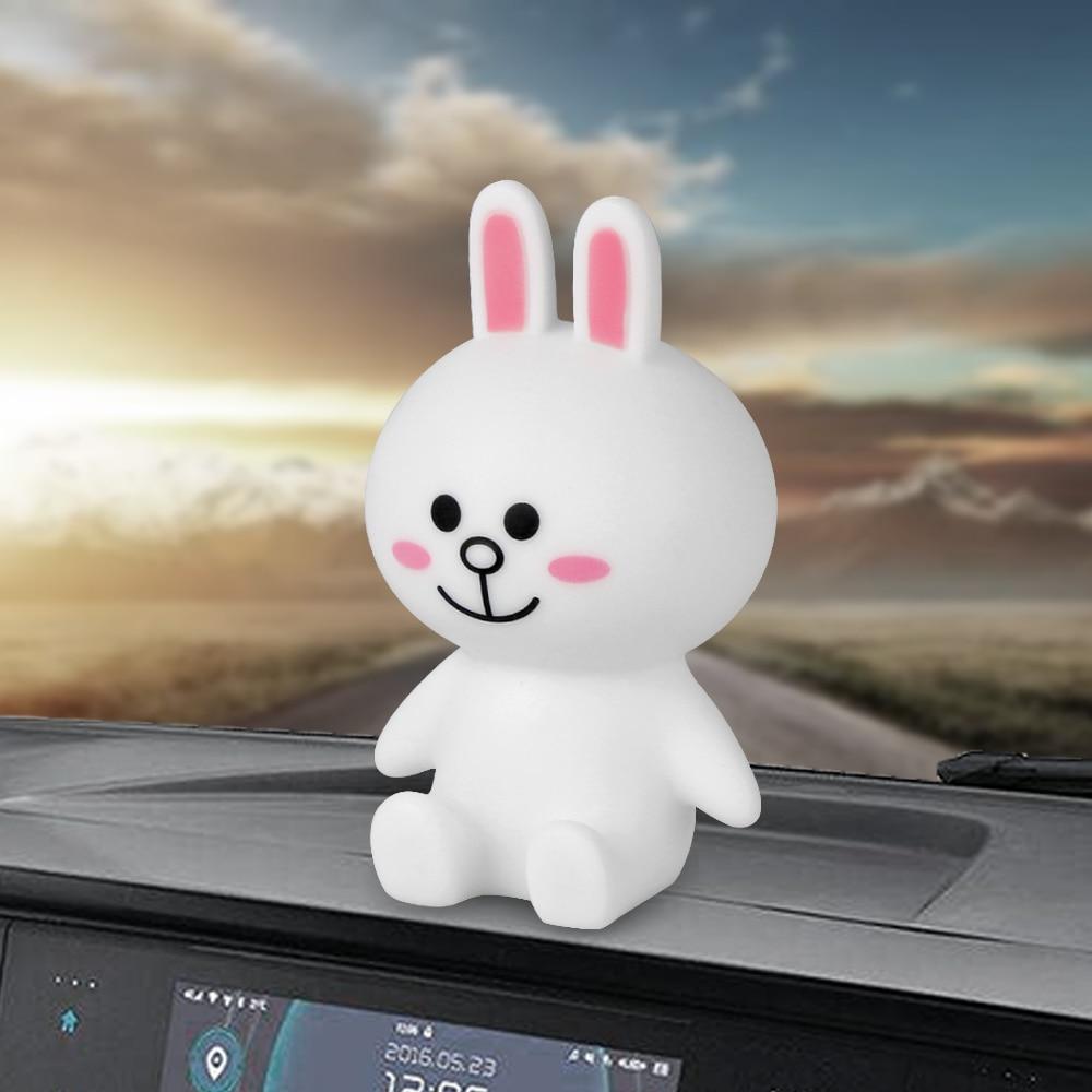 Car Ornaments Cute Rabbit Figure Doll Lovely Automobiles Interior Dashboard Decoration Toys Cartoon Auto Decor Accessories Gifts