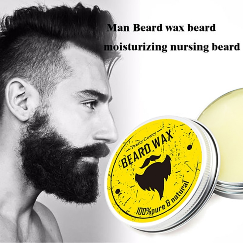 Crema hidratante esencial de barba orgánica Natural para hombres, cera de bigote suavizante para Dashing cosmético para caballeros