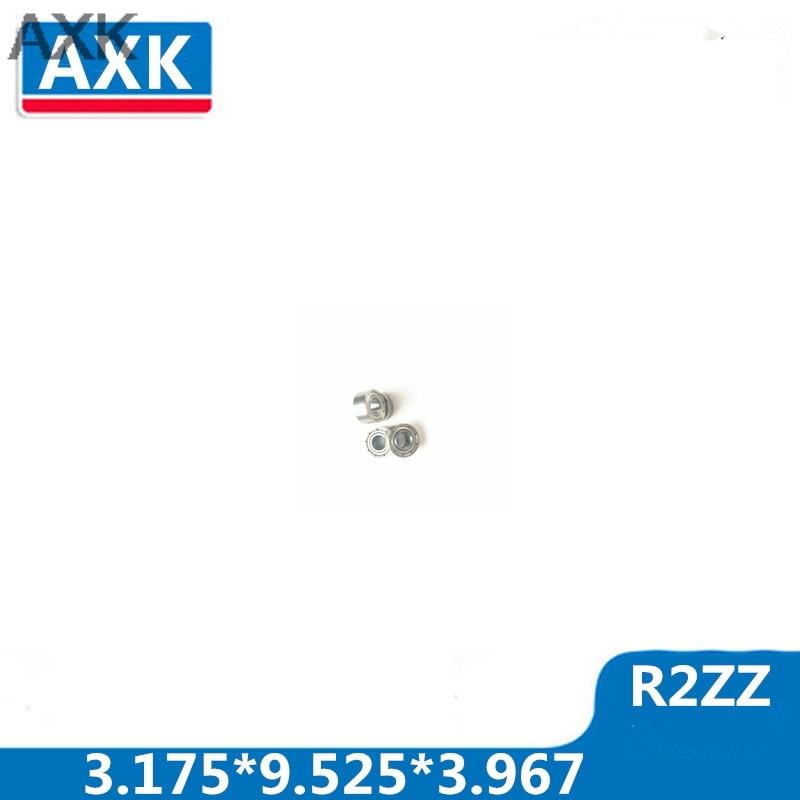 "AXK 10 Uds R2ZZ 1/8 ""x3/8"" x5/32 ""pulgadas miniatura R2 cojinetes bola ZZ bearing acero/acero inoxidable 3.175*9.525*3.967"