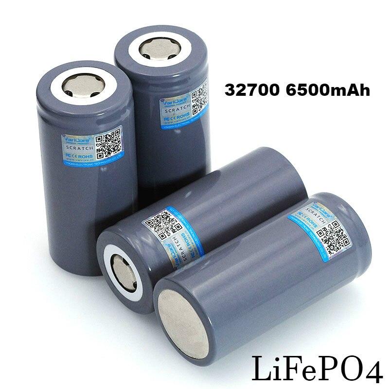 1-12 pces varicore 3.2 v 32700 6500 mah lifepo4 bateria 35a descarga contínua máxima 55a bateria de alta potência