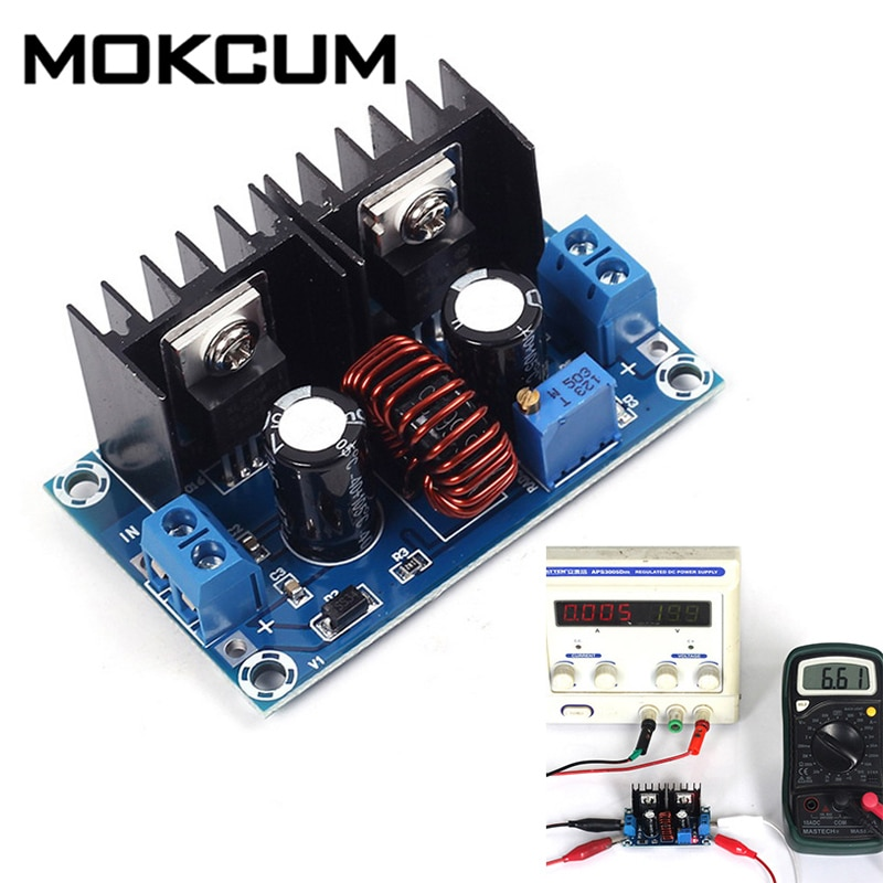 XH-M407 XL4016E1 DC regulador de voltaje de convertidor Buck de reducción 4V-40V a 1,25 V-36V DC fuente de alimentación del convertidor de voltaje