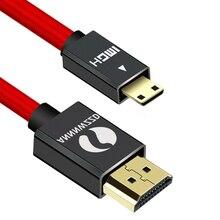 ANNNWZZD Mini HDMI zu HDMI Kabel 1m 2m 3m 5m Stecker auf Stecker 1,4 V 1080P für Tablet Camcorder MP4 Mini HDMI kabel