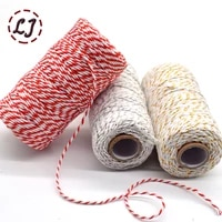 wholesale 100metersroll 2ply bakers twine string cotton cords rope for home handmade christmas gift packing craft projects diy