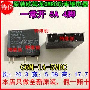 Free Shipping new original relay 10pcs/lot G6M-1A-5VDC G6M-1A-DC5V G6M-1A-5V NY5W-K  G6M-1A  5VDC  5A  4Pin