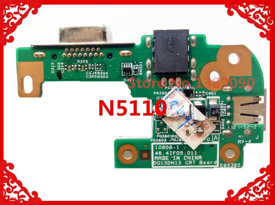 Оригинал для DELL N5110 DQ15DN15 CRT AC DC JACK USB плата 48.4IF05.011 10808-1 100% протестированная Быстрая доставка