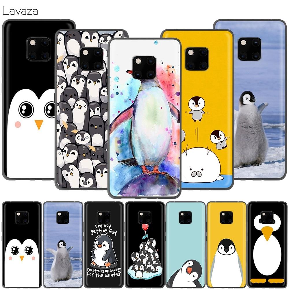 Bonita funda Lavaza de pingüino para Huawei P30 P20 P10 P9 P8 Mate 20 10 Pro Lite P Smart 2017