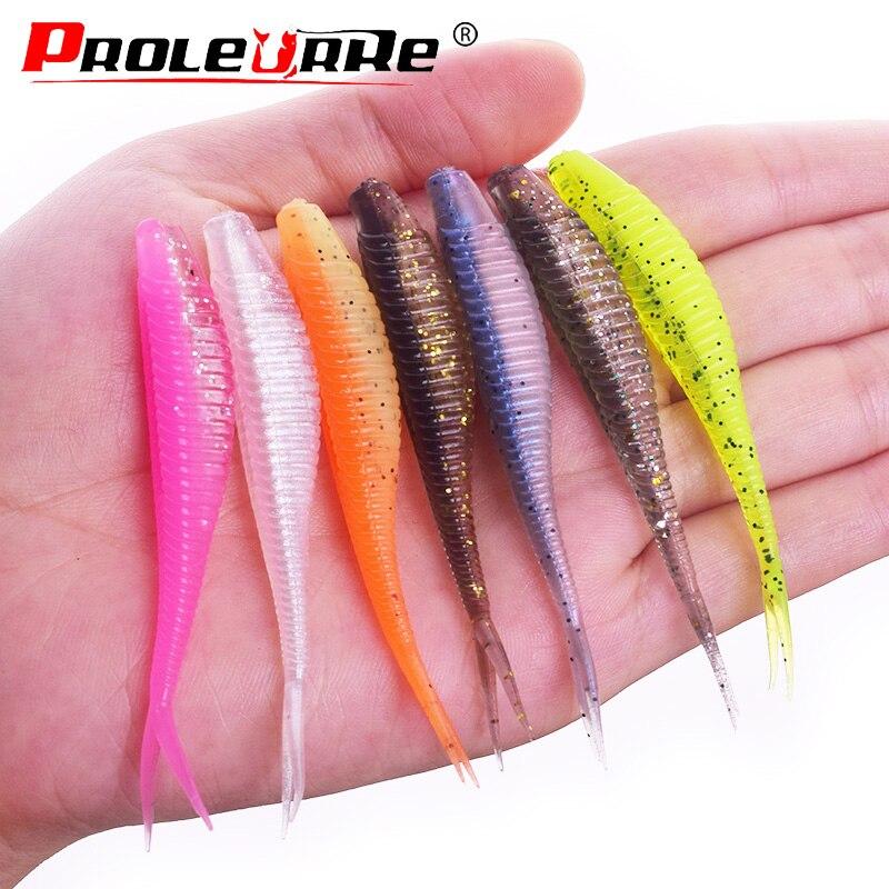 10 unids/lote 7cm 1,8g Jigging Wobbler señuelo de Pesca fácil de Shiner suave cebo de Pesca Artificial de silicona cebo Bass carpas Señuelos de Pesca