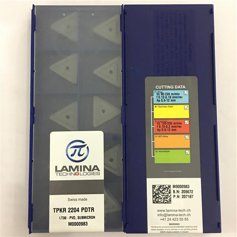 TPKR2204PDTR LT30 100% Original LAMINA carbide insert with the best quality 10pcs/lot free shipping