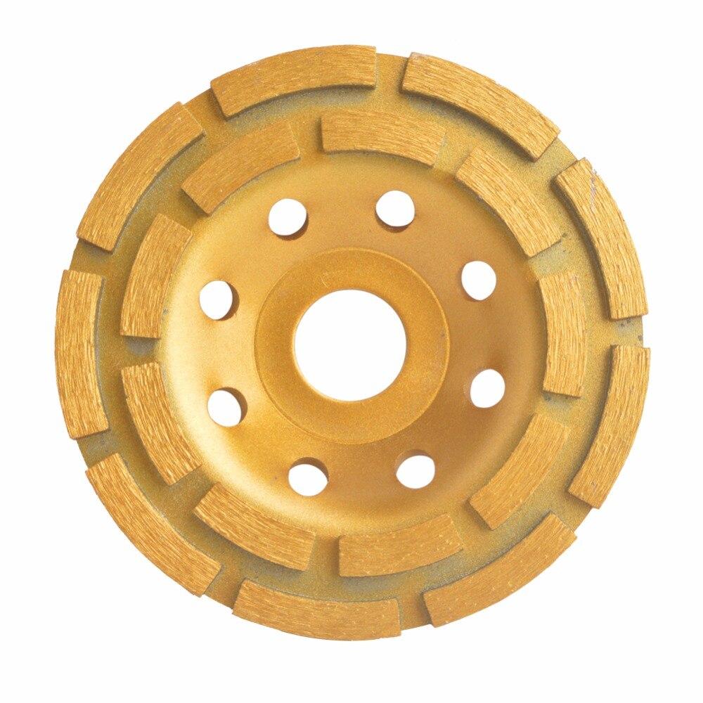 """115mm 4,5 """"diamante Segmento de molienda rueda Sierra cuchillas 2 filas disco de amoladora de hormigón para granito piedra cerámica Terrazzo de mármol"""