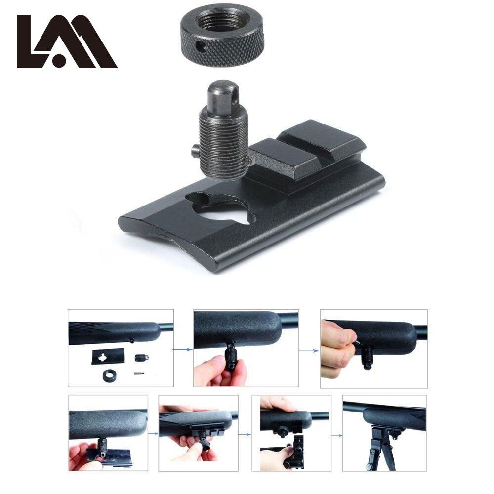 LAMBUL Swivel Stud Montieren Zweibein Adapter Gewehr Jagd Zweibein Picatinny Slot Adapter Kit Schiene Slot