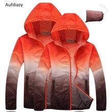 Aufdiazy 4XL Men Women Anti-UV Ultralight Gradient Color Skin Jackets Outdoor Hiking Camping Trekking Running Sport Coats JW001
