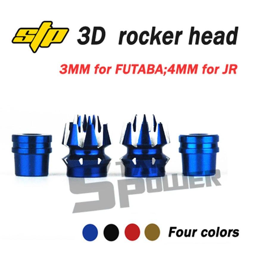 Original STP poder de estrella antideslizante palo cabeza 3D de Control basculante 3mm para FUTABA Frsky X9D X12S 4mm para JR RC Accesorios