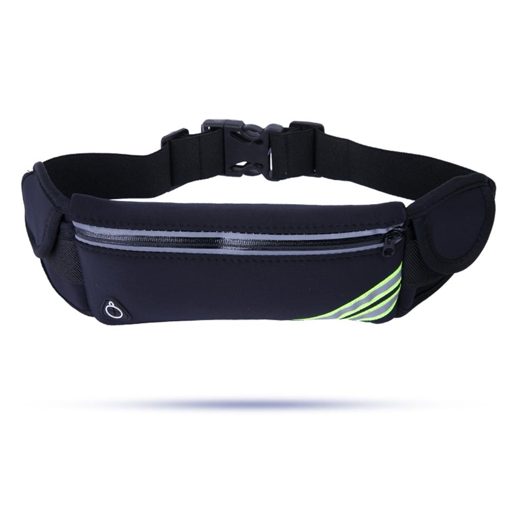 Riñonera para correr deporte al aire libre mujeres senderismo cinturón riñonera botella de agua bolsillo música con orificio para auriculares para teléfono móvil