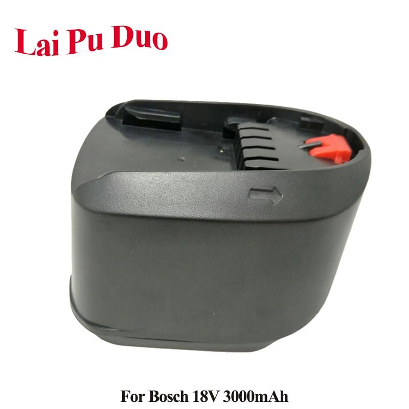 Para Bosch 18V 3000mAh Li-Ion batería de herramienta de poder de reemplazo para Bosch 3.0Ah PSR 18 LI-2 607 2 336 039 607 2 336, 208 4All