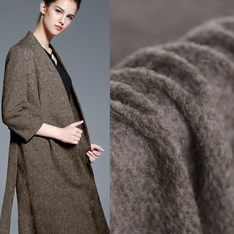 Importación de alto grado caramelo gris café Oro hilo bucles lana tela para abrigo Navidad telas patchwork tissu tecido DIY